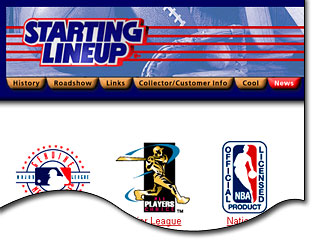 Hasbro's first Starting Lineup Web Site